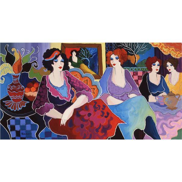 "Patricia Govezensky- Original Giclee on Canvas ""Cafe Laguna"""