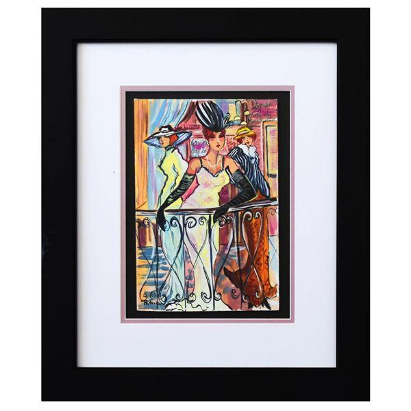 """Patricia Govezensky- Original Watercolor """"Balcony View"""""""