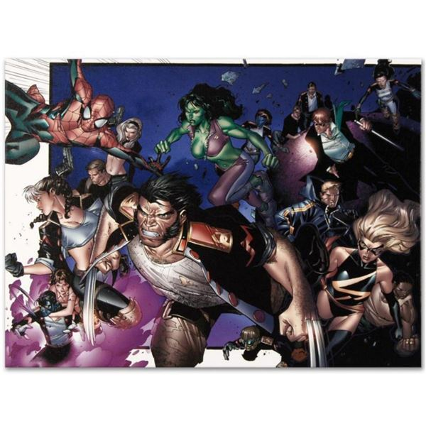 """Marvel Comics """"House of M #6"""" Numbered Limited Edition Giclee on Canvas by Oliver Coipel with COA."""