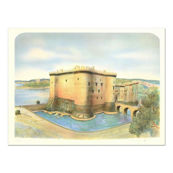 """Rolf Rafflewski, """"Chateau de Tarascon"""" Limited Edition Lithograph, Numbered and Hand Signed."""