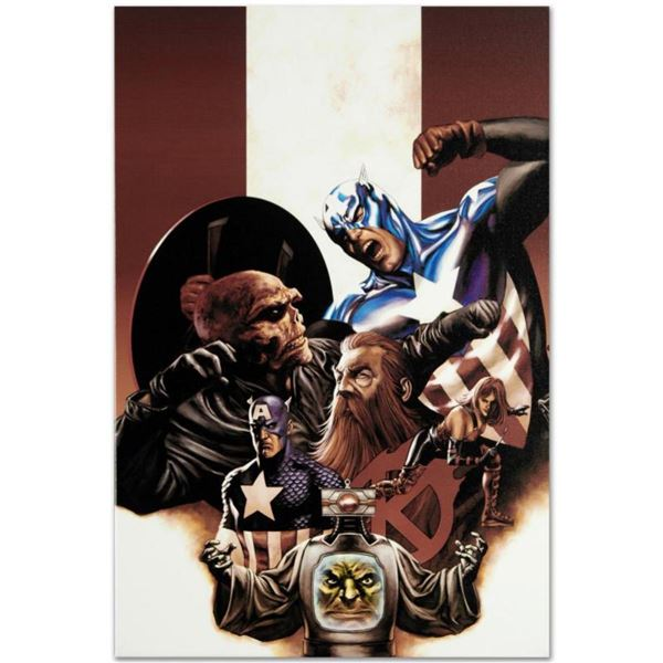 """Marvel Comics """"Captain America #42"""" Numbered Limited Edition Giclee on Canvas by Steve Epting with C"""