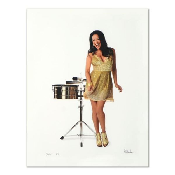 """Rob Shanahan, """"Sheila E."""" Hand Signed Limited Edition Giclee with Certificate of Authenticity."""