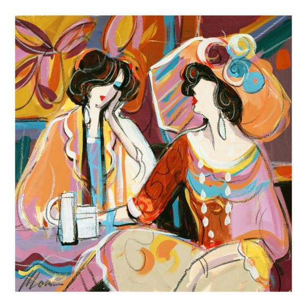"""Isaac Maimon, """"A Cherished Moment"""" Original Acrylic Painting, Hand Signed with Certificate of Authen"""