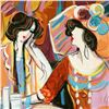 """Image 2 : Isaac Maimon, """"A Cherished Moment"""" Original Acrylic Painting, Hand Signed with Certificate of Authen"""