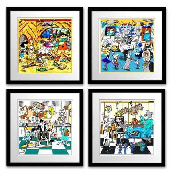 "Charles Fazzino- 3D Construction Silkscreen Serigraph ""A Jetson's House Call , Tom & Jerry's Surgica"