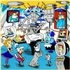 """Image 4 : Charles Fazzino- 3D Construction Silkscreen Serigraph """"A Jetson's House Call , Tom & Jerry's Surgica"""