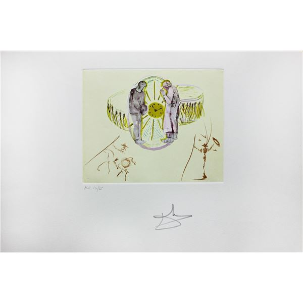 """Salvador Dali- Original Collages with Original Etchings """"One's Identity"""""""