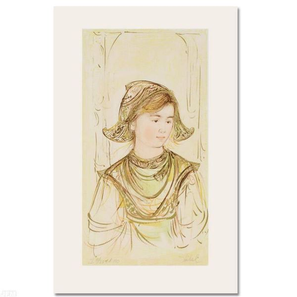 """""""Helen"""" Limited Edition Lithograph by Edna Hibel, Numbered and Hand Signed with Certificate of Authe"""