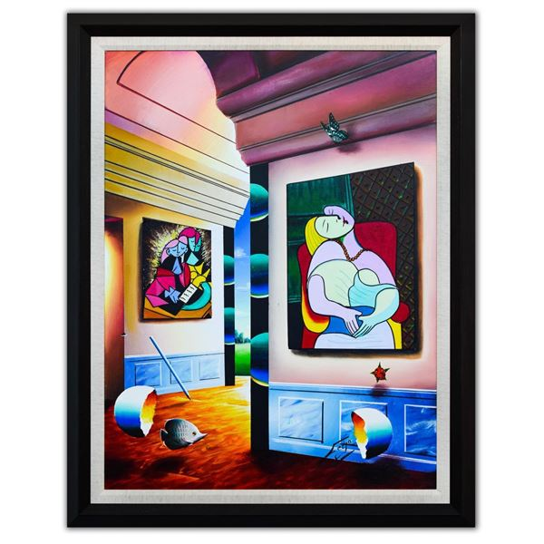 """Ferjo- Original Oil on Canvas """"Picasso's Room of Beauty"""""""