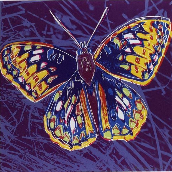 "Andy Warhol- Screenprint in colors ""San Francisco Silverspot"""