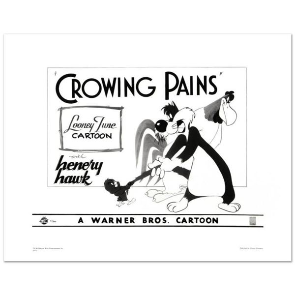"""Crowing Pains with Sylvester"" Limited Edition Giclee from Warner Bros., Numbered with Hologram Seal"