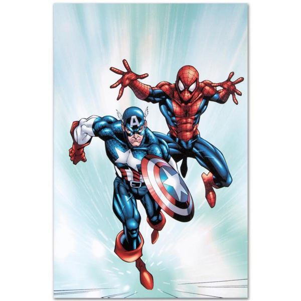 "Marvel Comics ""Marvel Age Team Up #2"" Numbered Limited Edition Giclee on Canvas by Randy Green with"