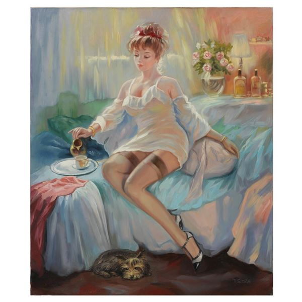 "Taras Sidan- Original Giclee on Canvas ""Alexandra"""