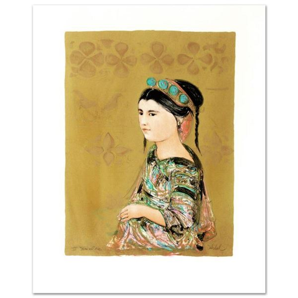 """Hill Tribe Maiden"" Limited Edition Lithograph by Edna Hibel (1917-2014), Numbered and Hand Signed w"