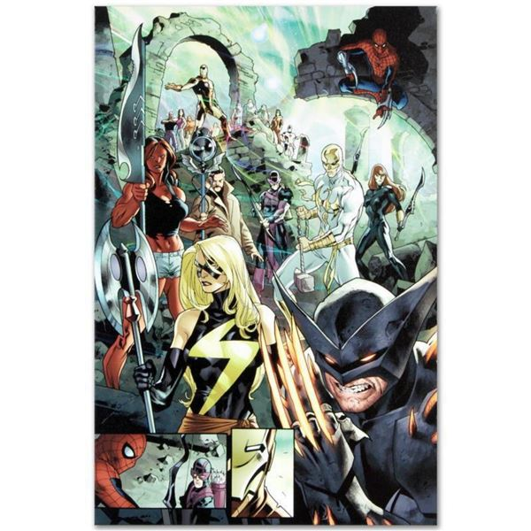 "Marvel Comics ""Fear Itself #7"" Numbered Limited Edition Giclee on Canvas by Stuart Immonen with COA."