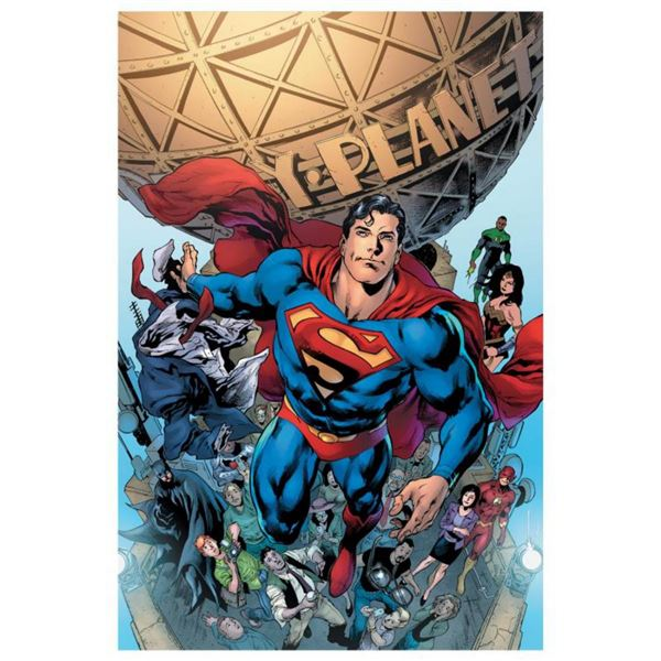 "DC Comics, ""Superman #19"" Numbered Limited Edition Giclee on Canvas by Ivan Reis with COA."