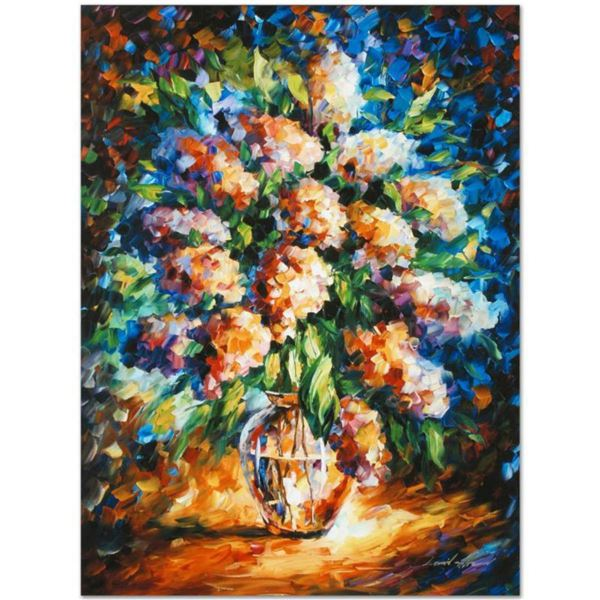 "Leonid Afremov (1955-2019) ""A Thoughtful Gift"" Limited Edition Giclee on Canvas, Numbered and Signed"