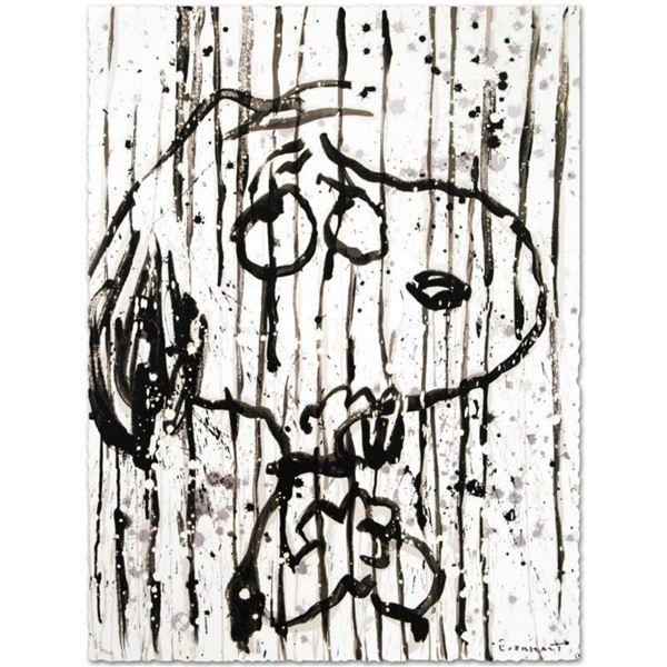 "Tom Everhart- Hand Pulled Original Lithograph ""Dancing in the Rain"""