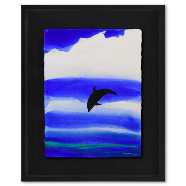 "Wyland, ""Kona Skies"" Framed Original Watercolor Painting Hand Signed with Letter of Authenticity. (D"