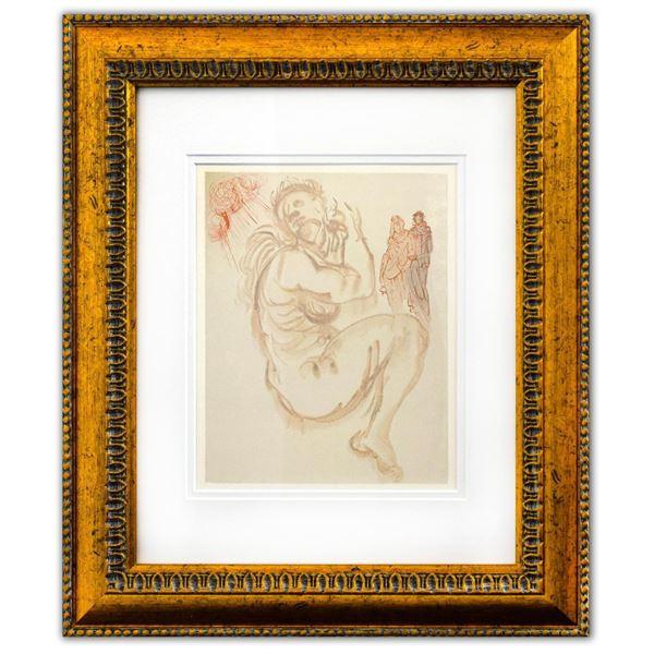 "Salvador Dali- Original Color Woodcut on B.F.K. Rives Paper ""Purgatory 19"""