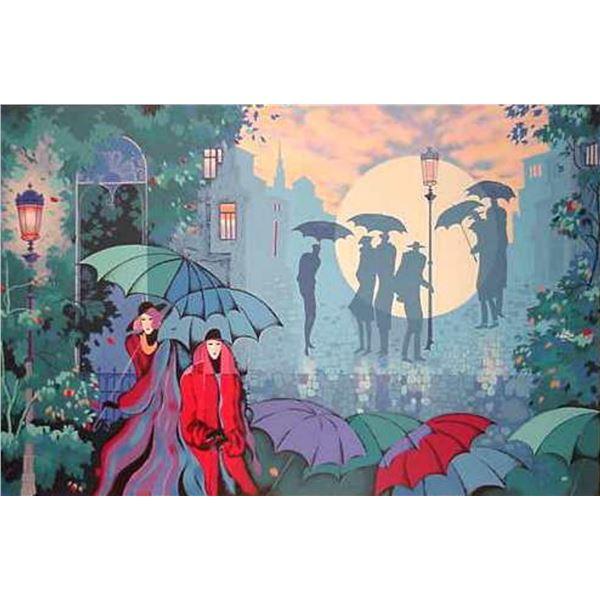 "Zina Roitman- Original Serigraph ""Paris by Night"""