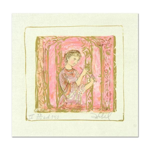 "Edna Hibel (1917-2014), ""Solo"" Limited Edition Lithograph with Remarque, Numbered and Hand Signed wi"