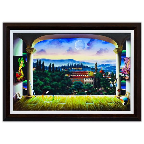 "Ferjo- Original Oil on Canvas ""Mountain Overlook"""