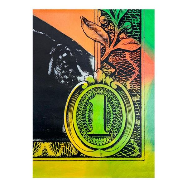 "Steve Kaufman (1960-2010) ""Bottom of a Dollar"" Hand Signed and Numbered Limited Edition Hand Pulled"