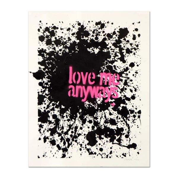"""Padhia Avocado, """"Love Me Anyways"""" Hand Painted Unique Variation Silkscreen, Numbered 10/12 and Hand"""