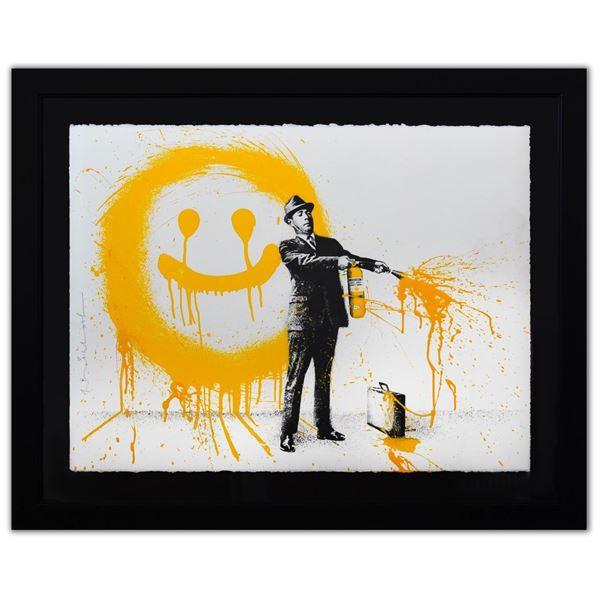 "Mr. Brainwash- Silkscreen Serigraph ""Spray Happiness (Yellow)"""