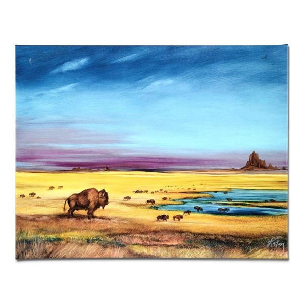 """""""Where the Buffalo..."""" Limited Edition Giclee on Canvas by Martin Katon, Numbered and Hand Signed. T"""