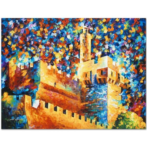 """Leonid Afremov (1955-2019) """"David's Citadel"""" Limited Edition Giclee on Canvas, Numbered and Signed."""
