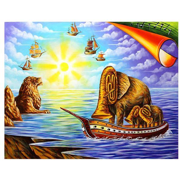 "Eugene Poliarush- Original Oil on Canvas ""Sunset"""
