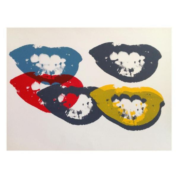 """Andy Warhol """"I Love Your Kiss Forever Forever"""" Limited Edition Silk Screen Print from Sunday B Morni"""