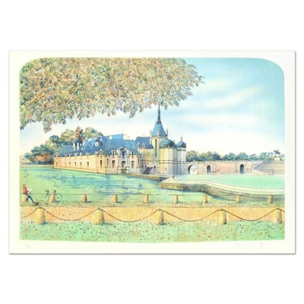 """Rolf Rafflewski, """"Chateau IV"""" Limited Edition Lithograph, Numbered and Hand Signed."""