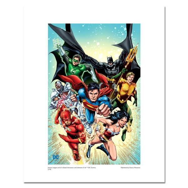 """""""Justice League #1"""" Numbered Limited Edition Giclee from DC Comics & Ivan Reis with COA"""