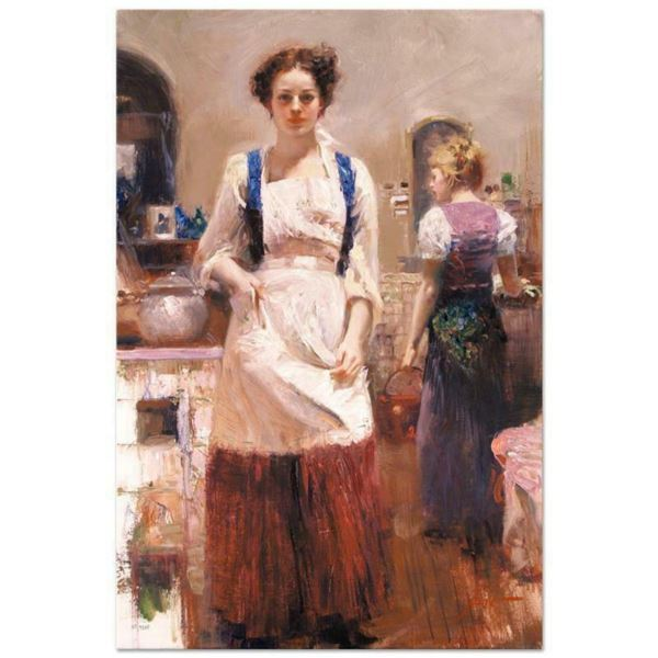"""Pino (1939-2010), """"The Country Chef"""" Artist Embellished Limited Edition on Canvas, AP Numbered and H"""