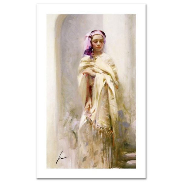 "Pino (1931-2010), ""The Silk Shawl"" Limited Edition on Canvas, Numbered and Hand Signed with Certific"