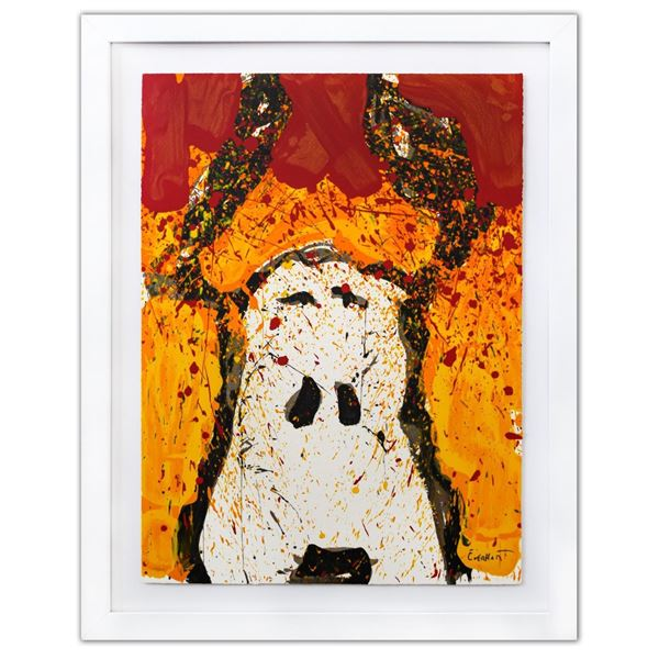 "Tom Everhart- Hand Pulled Original Lithograph ""Watch Dog Noon"""