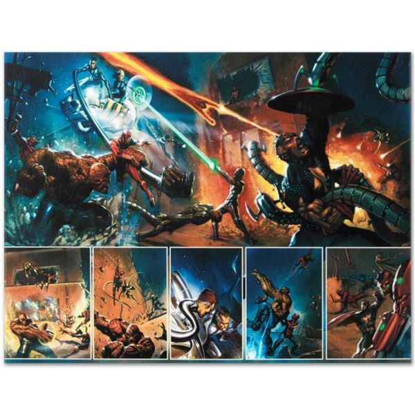 "Marvel Comics ""Secret War #4"" Numbered Limited Edition Giclee on Canvas by Gabriele Dell'Otto with C"