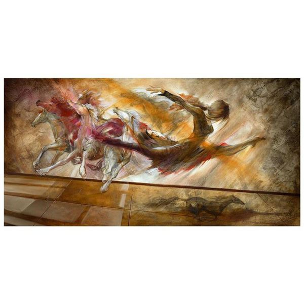 "Lena Sotskova, ""Force of Nature"" Hand Signed, Artist Embellished Limited Edition Giclee on Canvas wi"