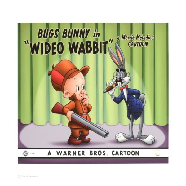 """Wideo Wabbit"" Limited Edition Giclee from Warner Bros., Numbered with Hologram Seal and Certificate"
