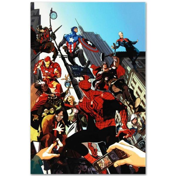 """Marvel Comics """"Age of Heroes #1"""" Numbered Limited Edition Giclee on Canvas by Greg Tocchini with COA"""