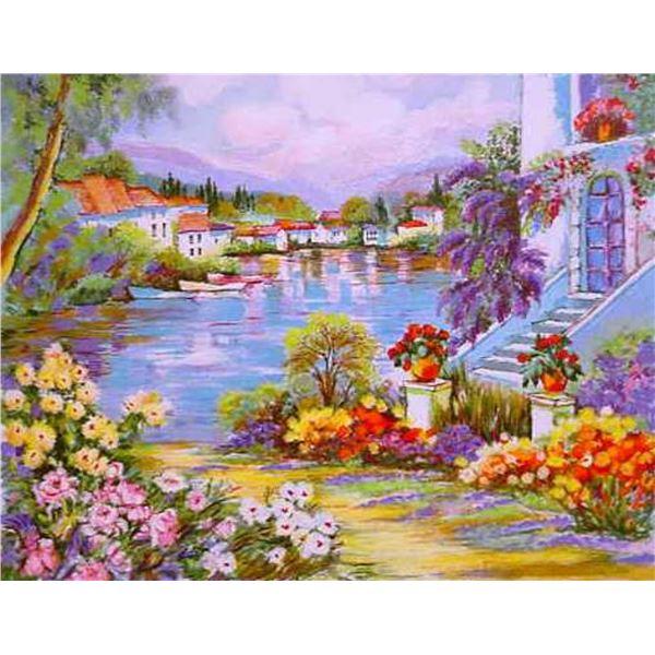 "Zina Roitman- Original Serigraph ""River Side"""