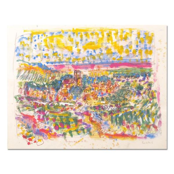 "Wayne Ensrud ""Village of Pommard, Burgundy"" Mixed Media Original Artwork; Hand Signed; COA"