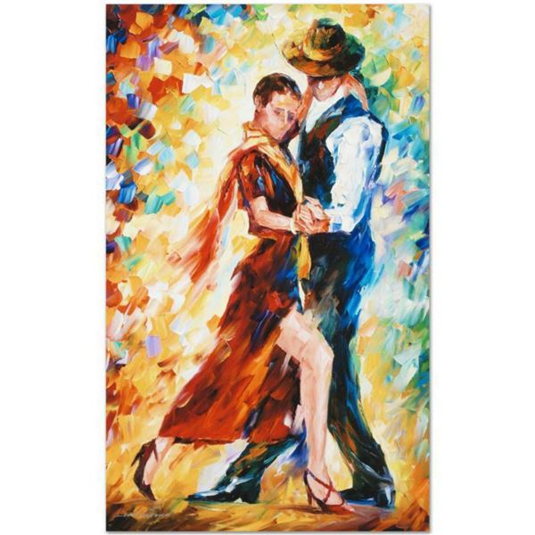 """Leonid Afremov (1955-2019) """"Romantic Tango"""" Limited Edition Giclee on Canvas, Numbered and Signed. T"""