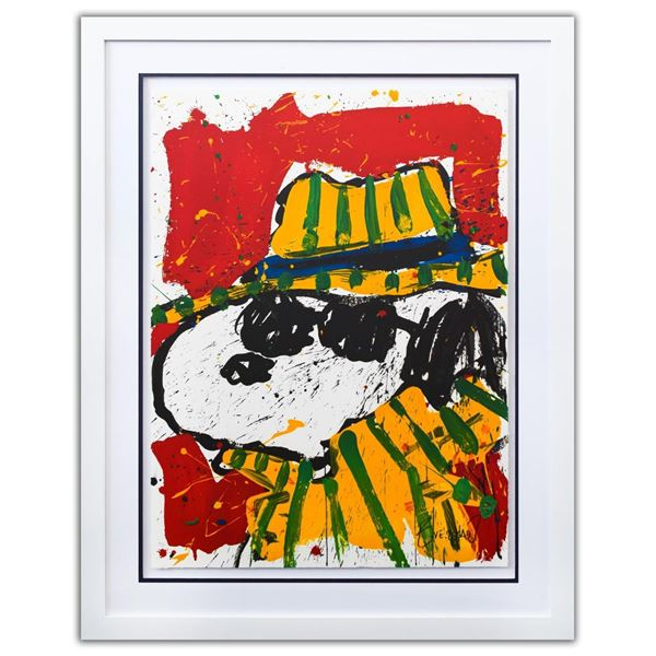 """Tom Everhart- Hand Pulled Original Lithograph """"It's The Hat That Makes The Dude"""""""
