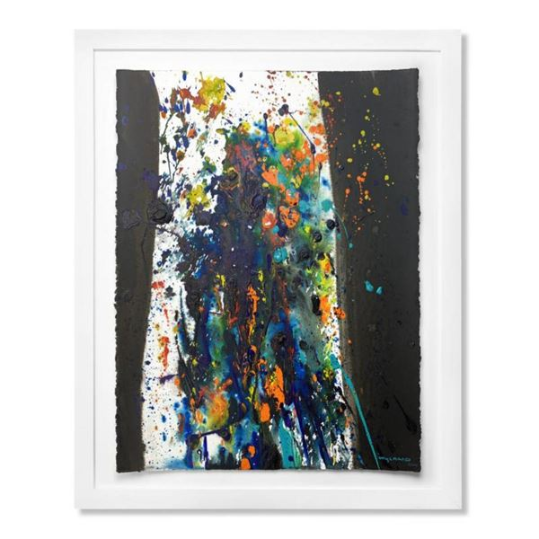 """Wyland, """"Female Abstract"""" Framed Original Watercolor Painting Hand Signed with Letter of Authenticit"""