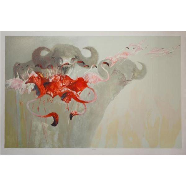 "Edwin Salomon- Original Serigraph ""Safari"""