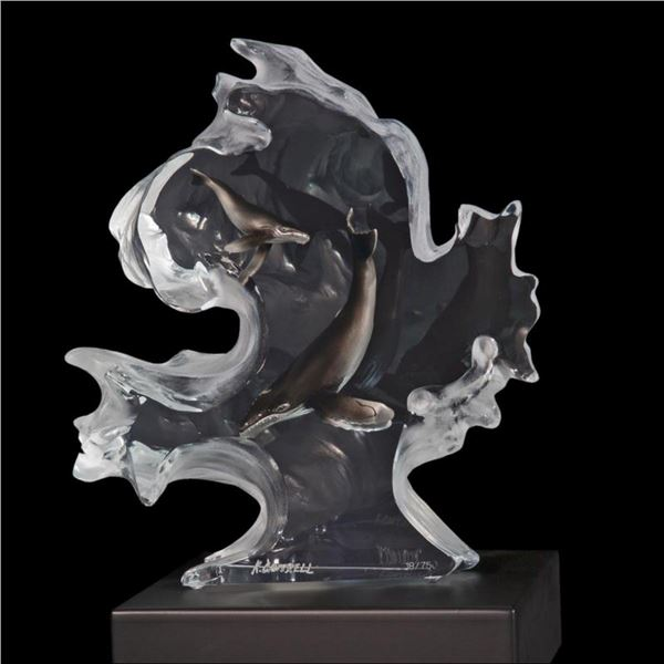 """Kitty Cantrell, """"Mother Nature"""" Limited Edition Mixed Media Lucite Sculpture with COA."""